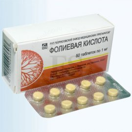 Фолиевая кислота (Folic acid), таблетки
